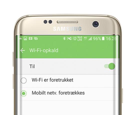 Sådan slår du WiFi-opkald til på din Samsung