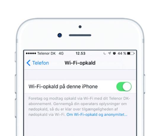 Sådan slår du WiFi-opkald til på din Apple