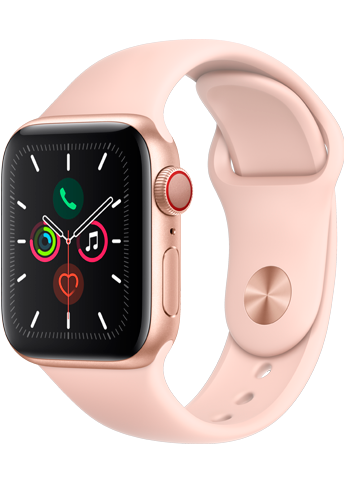 Apple Watch Series 5 - 40mm Gold Case Pink Sand - Sport Band - 4G
