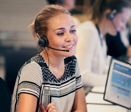 Ring til vores kundeservice