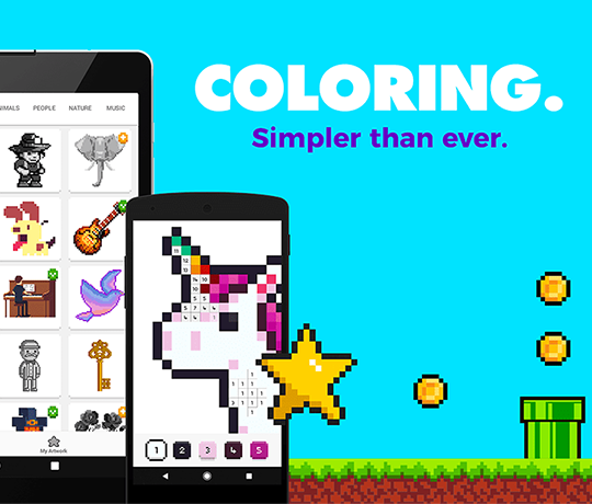 UNICORN - Color by Number Game