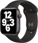 Apple Watch SE - 44mm Space Gray Aluminium Case - Black Sport Band - 4G