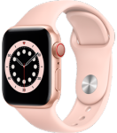 Apple Watch 6 - 40mm Gold Aluminium Case with Pink Sand Sport Band - Regular