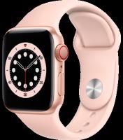 Watch 6 - 40mm Gold Aluminium Case with Pink Sand Sport Band – Regular