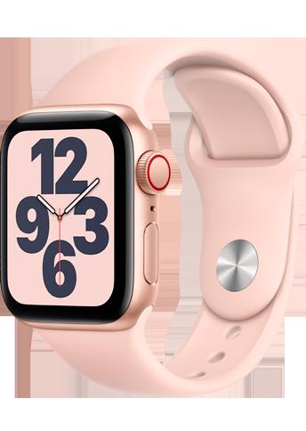 Apple Watch SE - 40mm Gold Aluminium Case -  Pink Sand Sport Band - 4G