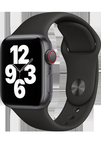 Apple Watch SE - 40mm Space Gray Aluminium Case - Black Sport Band - 4G