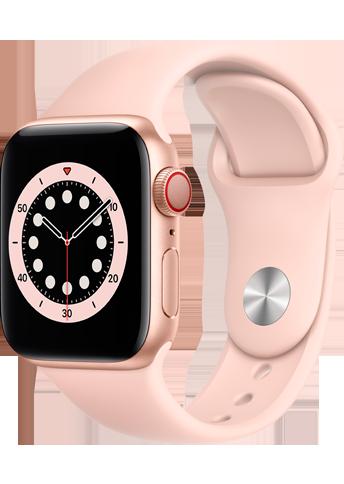 Apple Watch 6 - 40mm Gold Aluminium Case with Pink Sand Sport Band – Regular
