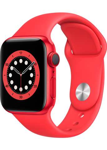 Apple Watch 6 - 40mm PRODUCT(RED) Aluminium Case - PRODUCT(RED) Sport Band - 4G