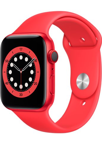 Apple Watch 6 - 44mm PRODUCT(RED) Aluminium Case - PRODUCT(RED) Sport Band - 4G