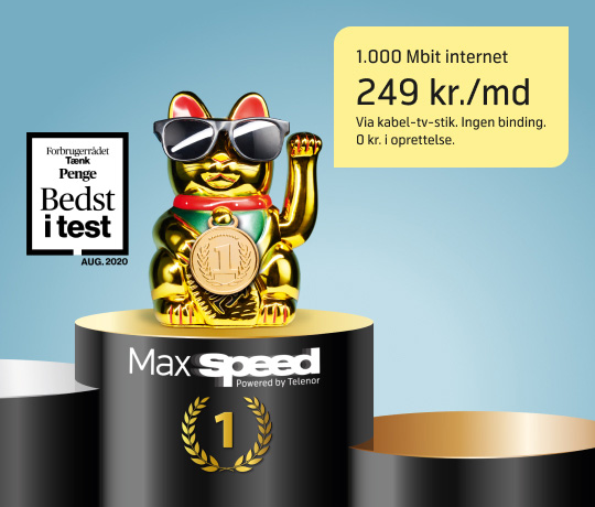 MaxSpeed internet til dine behov