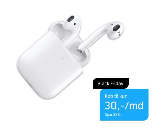 Apple AirPods med opladningsetui