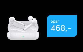 Skarp pris på Huawei FreeBuds 3i til 10,-/md.
