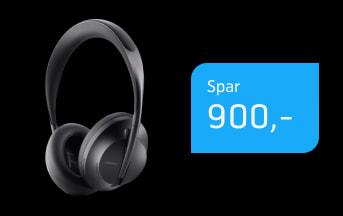 Bose 700 ANC headphones til 55,-/md.