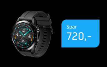 Superpris på Huawei Watch GT2e til 19,-/md.