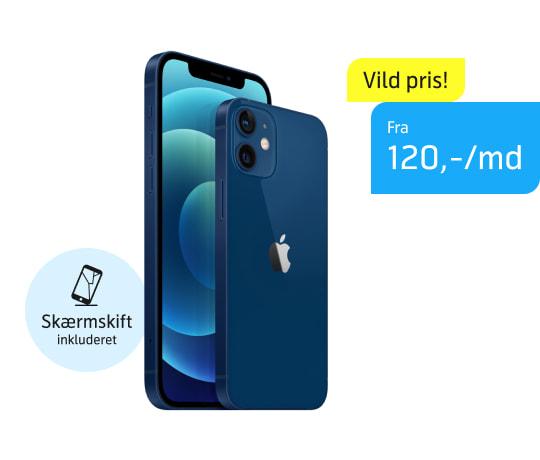 iPhone 12 eller 12 Mini fra 120,-/md.