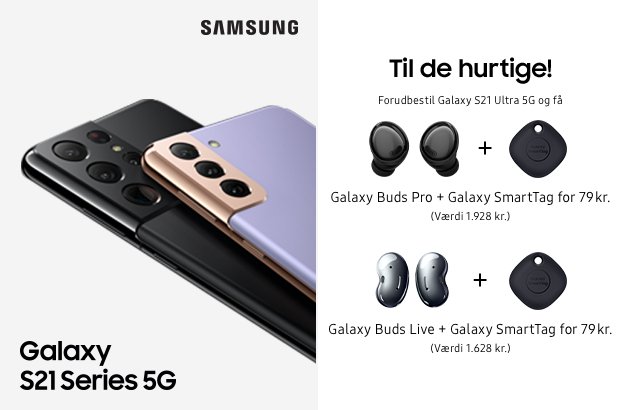 Nyhed: Den nye Samsung S21-serie er landet