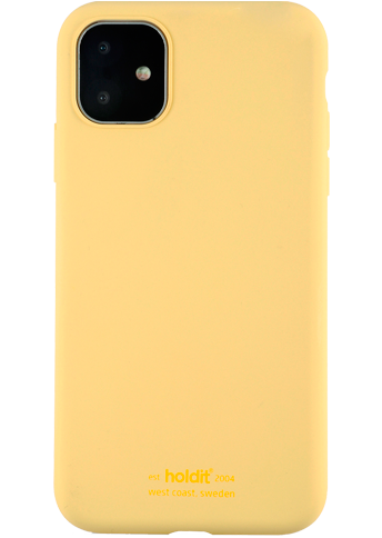 Holdit Silicone Cover iPhone 11 Yellow