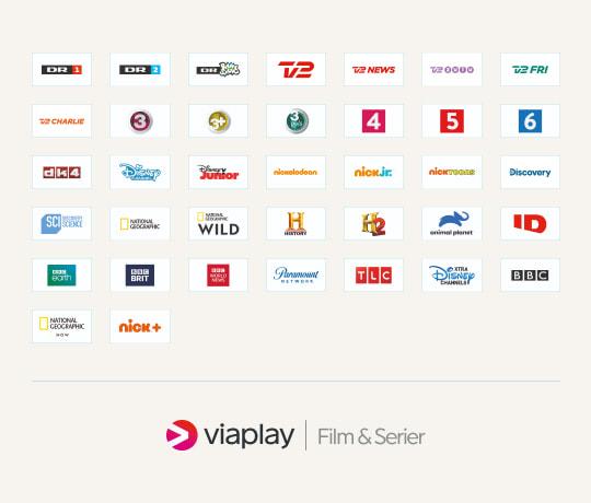 37 kanaler i verdensklasse plus Viaplay Film & Serier