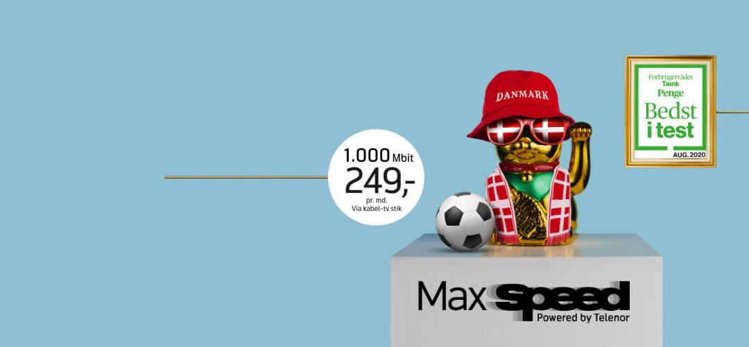 Kom i mål med MaxSpeed internet