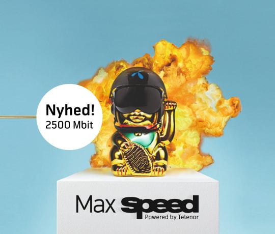 Fyr op for dit internet med MaxSpeed