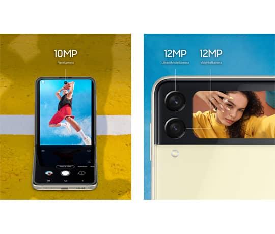 Galaxy Z Flip3: Ét foto, flere valgmuligheder