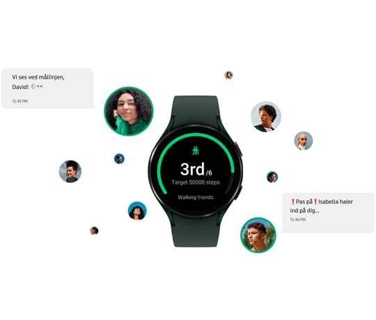 Opsætning af Samsung Watch med eSIM