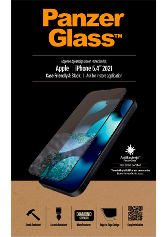 PanzerGlass iPhone 13 Mini Case Friendly Black