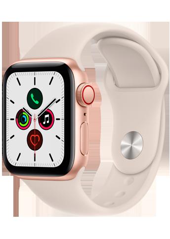 Apple Watch SE - 40mm - Gold  - Aluminum Case - Starlight - Sport Band - 4G