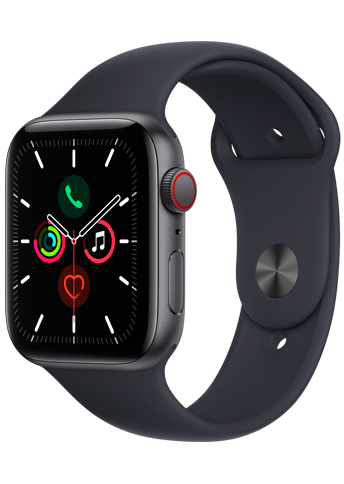 Apple Watch SE - 44mm Space Gray - Aluminium Case - Midnight Sport Band - 4G
