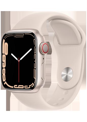 Apple Watch 7 – 41mm – Starlight Aluminium Case – Starlight Sport Band – 4G