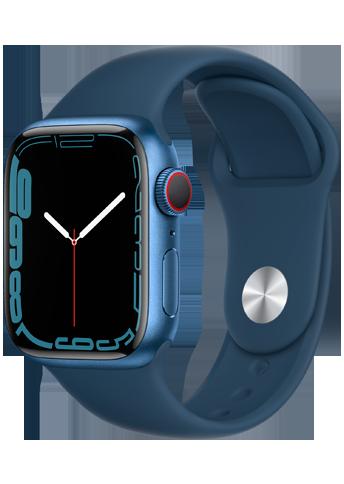Apple Watch 7 – 41mm – Blue Aluminium Case – Abyss Blue Sport Band- 4G