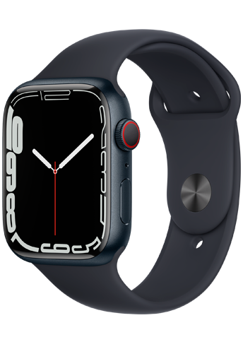 Apple Watch 7 – 45mm – Midnight Aluminium Case – Midnight Sport Band – 4G
