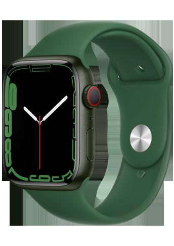Apple Watch 7 – 45mm – Green Aluminium Case – Clover Sport Band – 4G