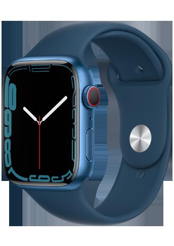 Apple Watch 7 – 45mm – Blue Aluminium Case – Abyss Blue Sport Band – 4G