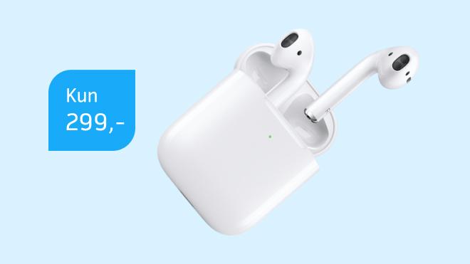 Apple AirPods til en vild pris