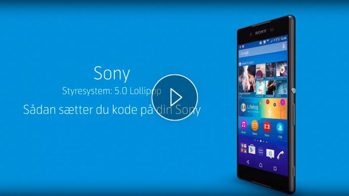 Se hvordan sætter du kode på din Sony Xperia