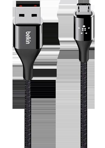 Belkin Kevlar Cable - Micro USB 1,2M Sort