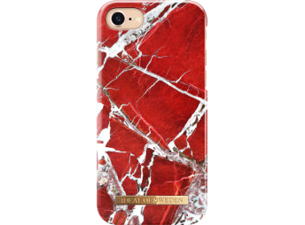 iDeal iPhone 7/8 Fashion Case Scarlet Red Marble
