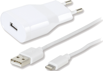 Vivanco Charger 2.4A Lightning White