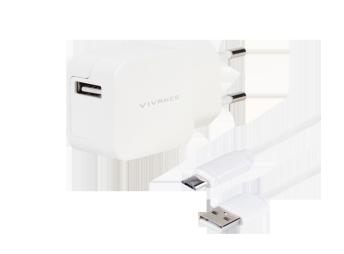 Vivanco Charger 2.4A Micro-USB White