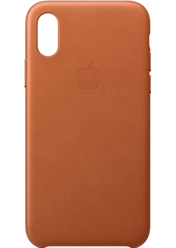 Apple iPhone Xs Leather Saddle Brown