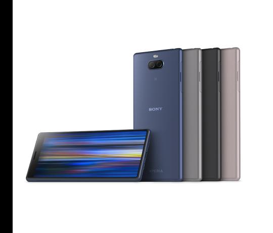 Sony Xperia 10 i helt nyt og unikt 21:9 bredformat i et slankt design, som passer perfekt i hånden