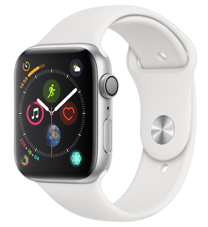 Apple Watch 4 Silver Alu WhiteSport 44mm