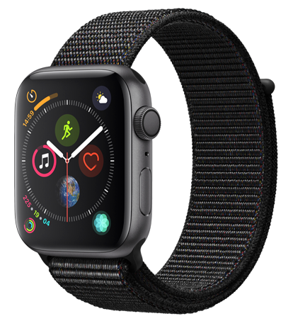 Apple Watch 4 SG Alu BlackSportLoop 44mm