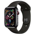 Apple Watch 4 Stainl.St Black Sport 44mm