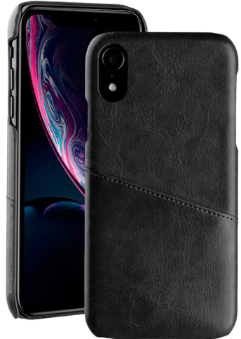 Vivanco Leather Case iPhone Xr Black