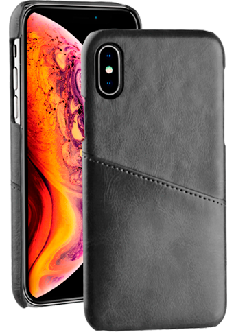 Vivanco Leather Case iPhone X/Xs Black
