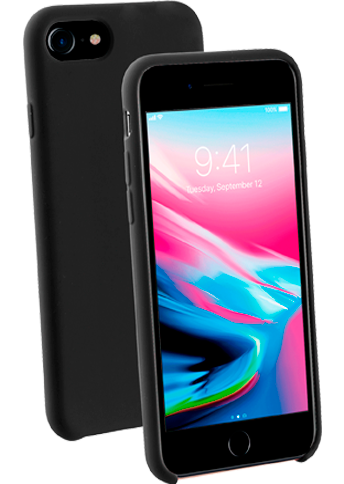 Vivanco Silicone Case iPhone 8/7/6 Black