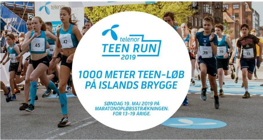SLIP TEENAGERNE LØS TIL TELENOR TEEN RUN