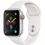 Apple Watch 4 Silver Alu WhiteSport 40mm